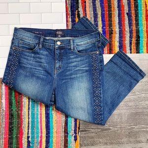 NYDJ Alina Embroidery Capri Jeans w/ tummy control